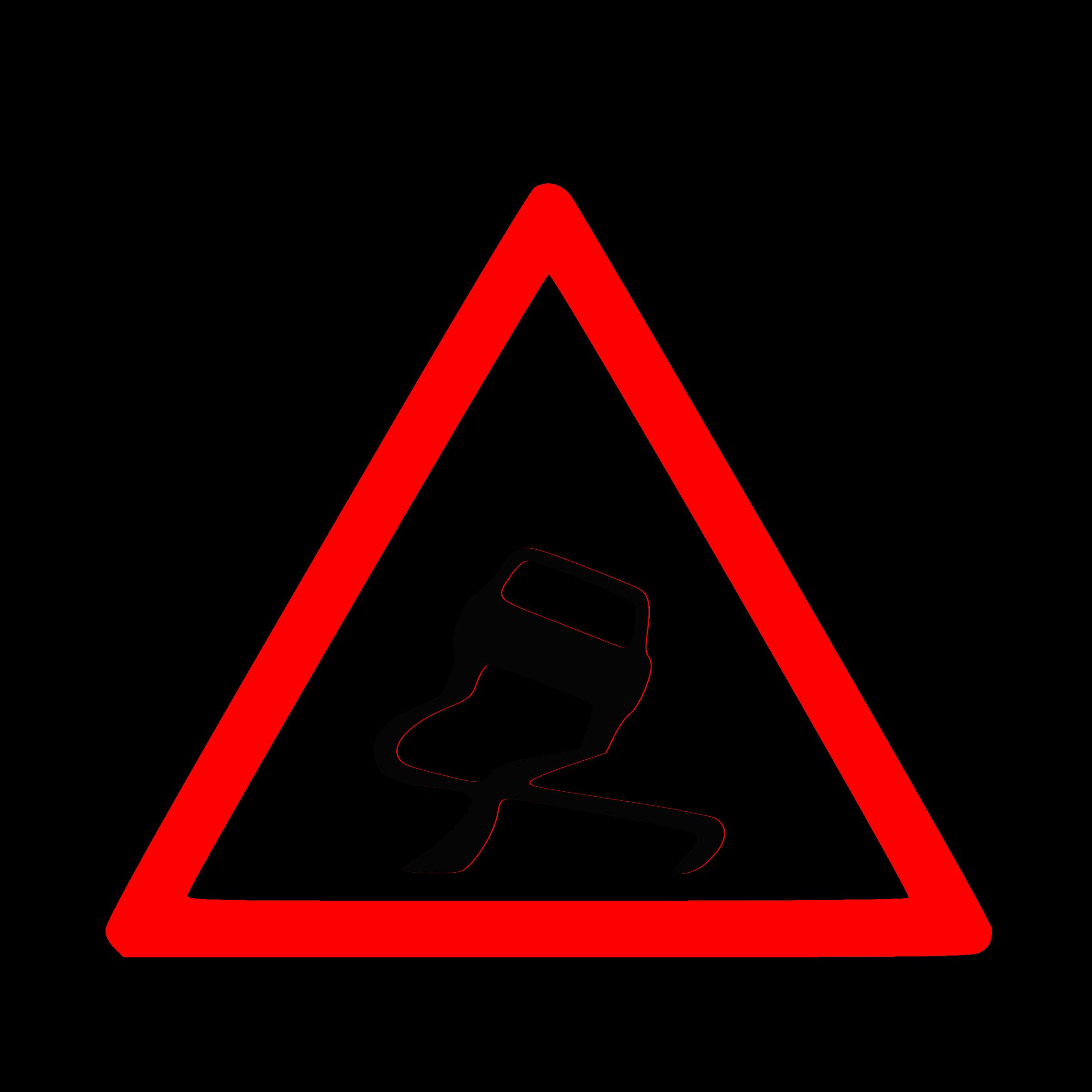 Car sign clipart transparent Clipart - Warning Sliding Car Roadsign transparent