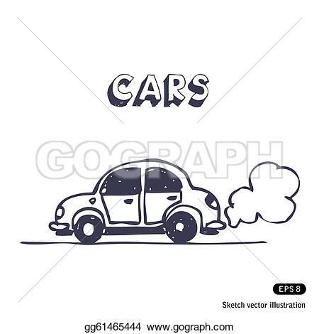 Car smoke car clipart vector transparent download Exhaust Clip Art - Royalty Free - GoGraph vector transparent download