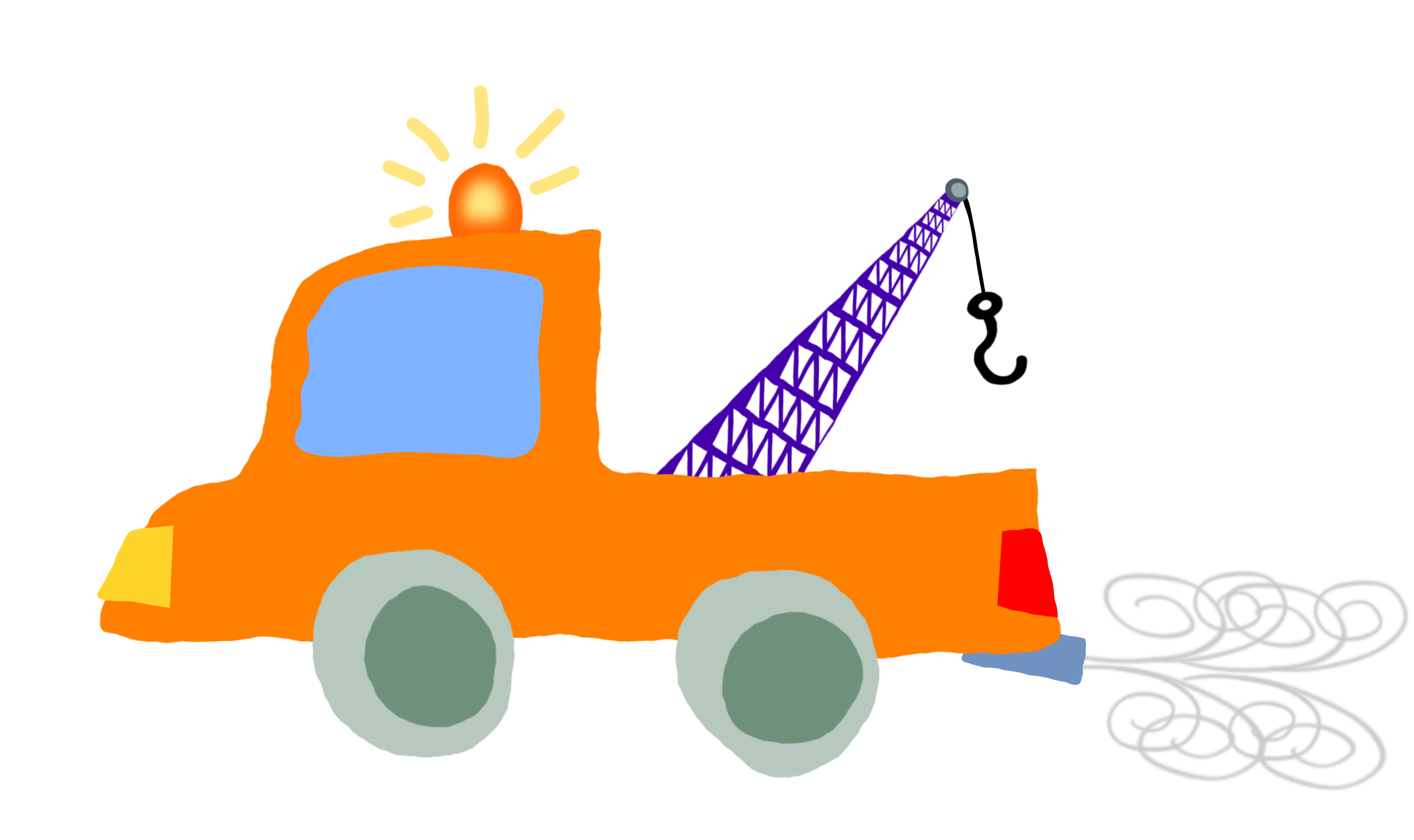 Crazy car clipart clip royalty free library Clipart - Crooked car crane 1 on its way to finally tow the weasel clip royalty free library