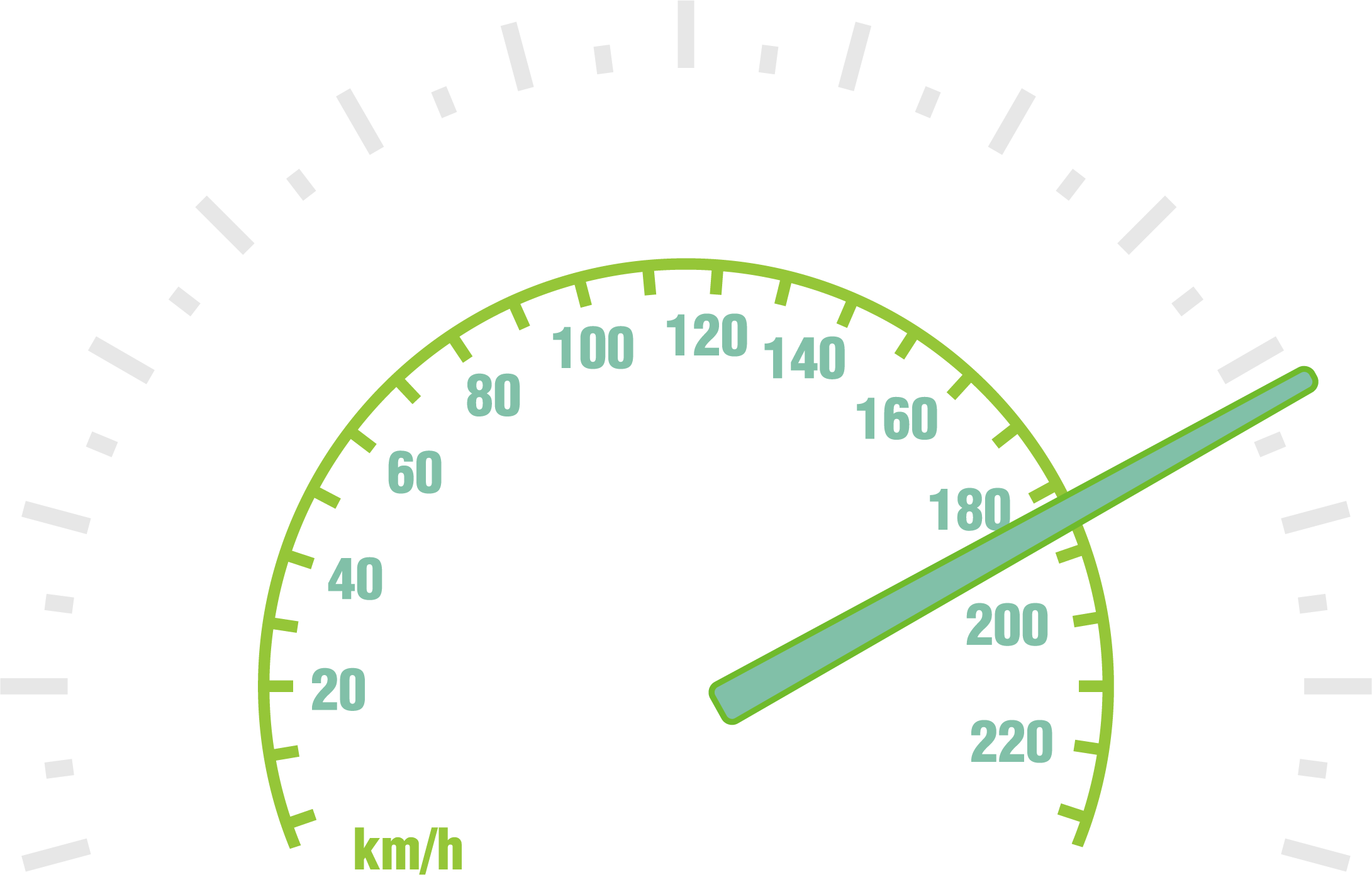 Car speedometer clipart clipart royalty free library Odometer Speedometer Clip art - Vector Green Dashboard 2181*1394 ... clipart royalty free library