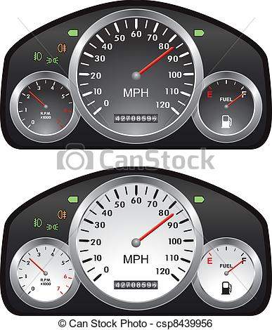 Car speedometer clipart 60 png free library Clip Art Vector of vector car dashboards with tachometer ... png free library