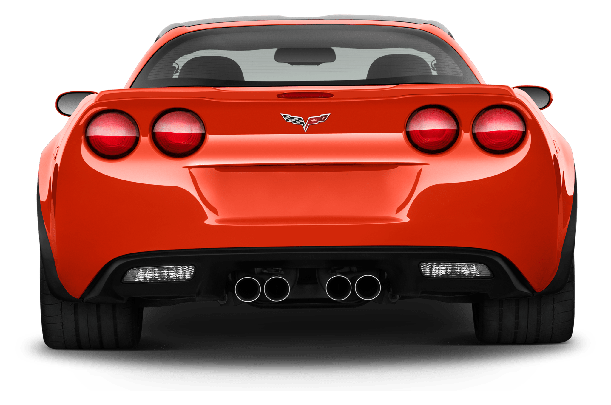 Car tail lights clipart clipart library library Corvette Rear View transparent PNG - StickPNG clipart library library