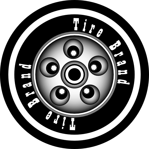 Car tire clipart png library library Azieser Tire With Rim Clip Art at Clker.com - vector clip art online ... png library library