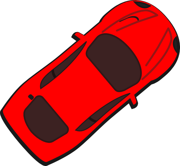 Car top view clipart clipart royalty free stock Red Car - Top View - 40 Clip Art at Clker.com - vector clip art ... clipart royalty free stock
