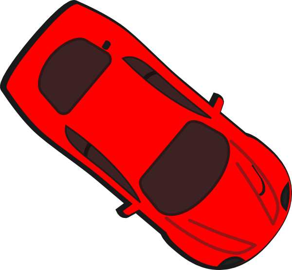 Car top view clipart jpg freeuse Red Car - Top View - 320 Clip Art at Clker.com - vector clip art ... jpg freeuse