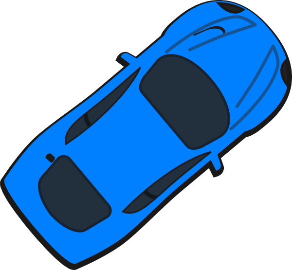 Car top view clipart svg royalty free library Blue Car - Top View - 40 Clip Art at Clker.com - vector clip art ... svg royalty free library
