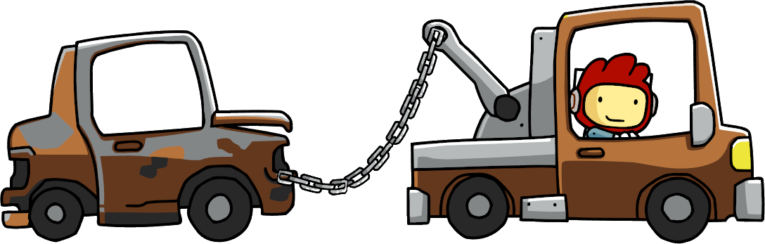 Car towing clipart royalty free Tow Truck | Scribblenauts Wiki | FANDOM powered by Wikia royalty free