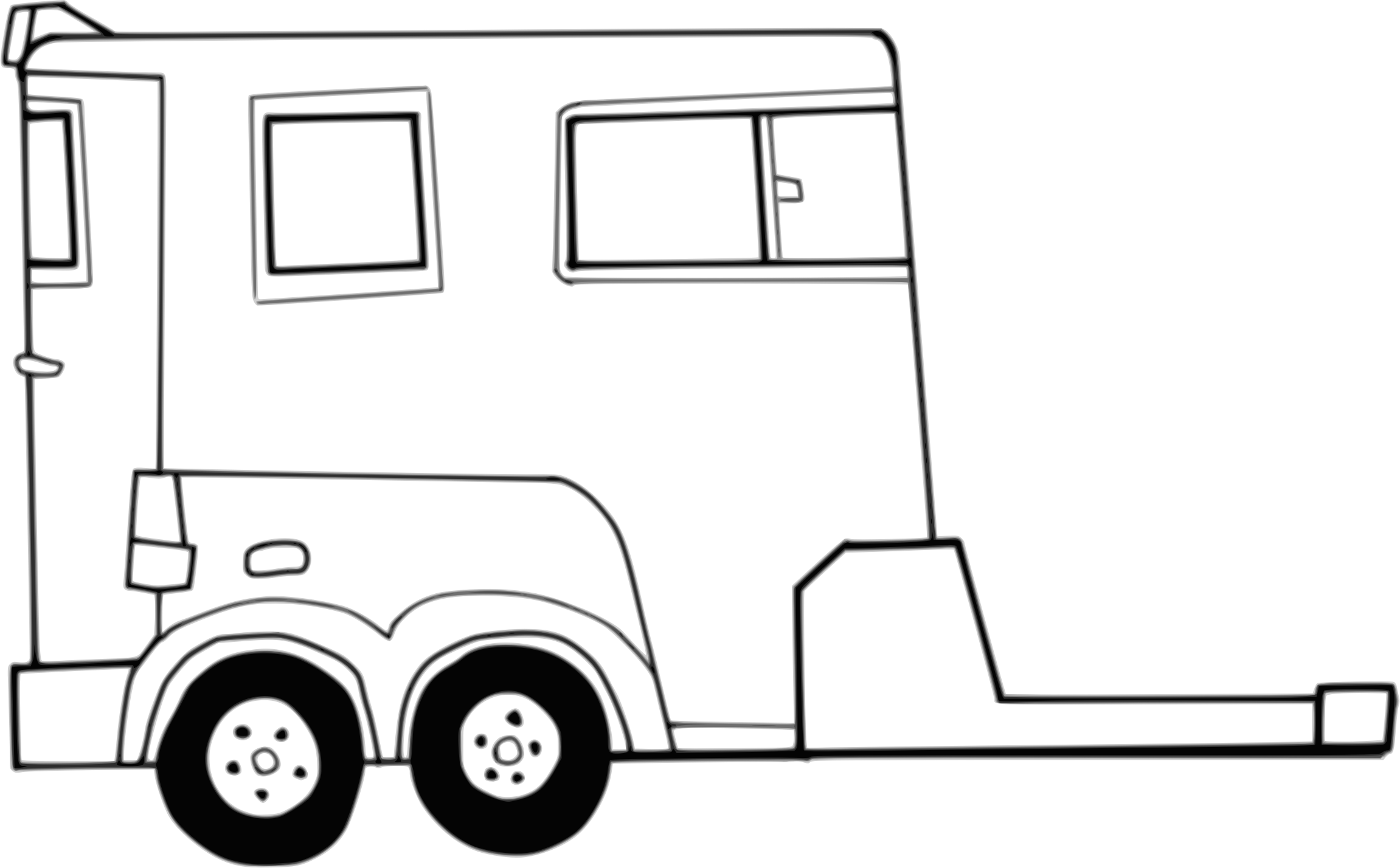 Car trailer clipart royalty free download Clipart - Horse Trailer royalty free download