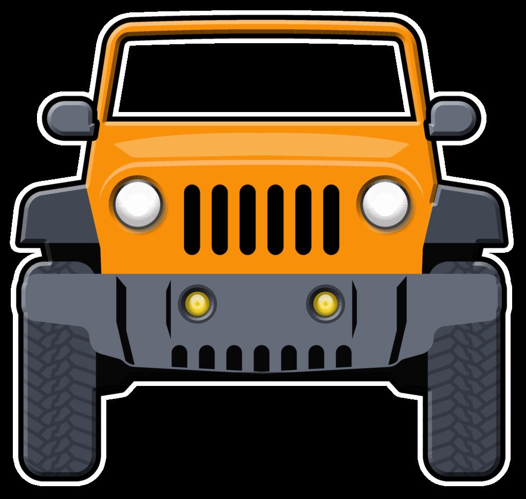 Car transportation clipart image black and white Jeep Wrangler Car Clip Art: Transportation Chrysler - jeep 1024*971 ... image black and white