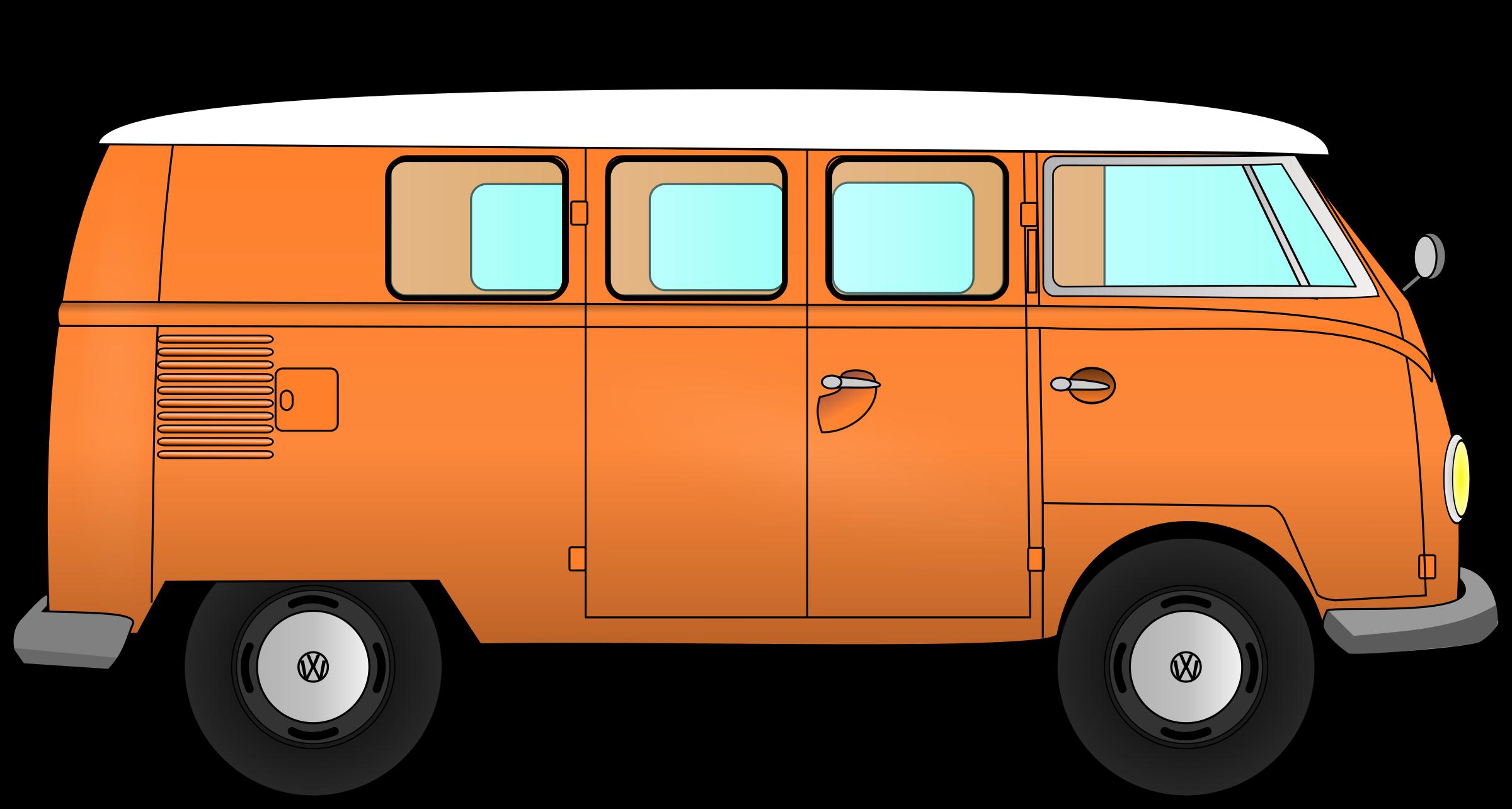 Car transporter clipart svg Clipart - VW combi svg