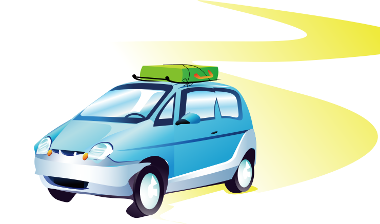 Car travel clipart graphic free library Clipart - travel car graphic free library
