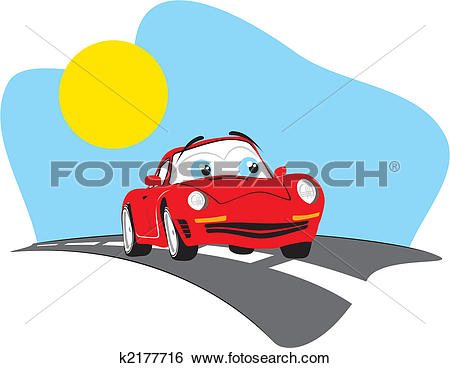 Clip Art of funny car travel k2177716 - Search Clipart ... png transparent