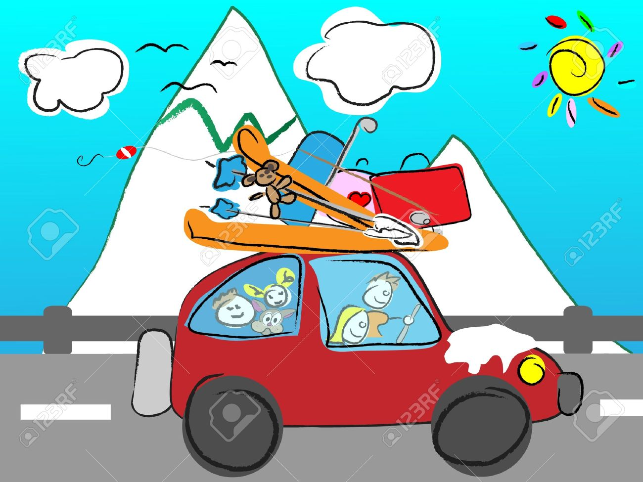 1,582 Family Road Trip Stock Illustrations, Cliparts And Royalty ... clip art library library