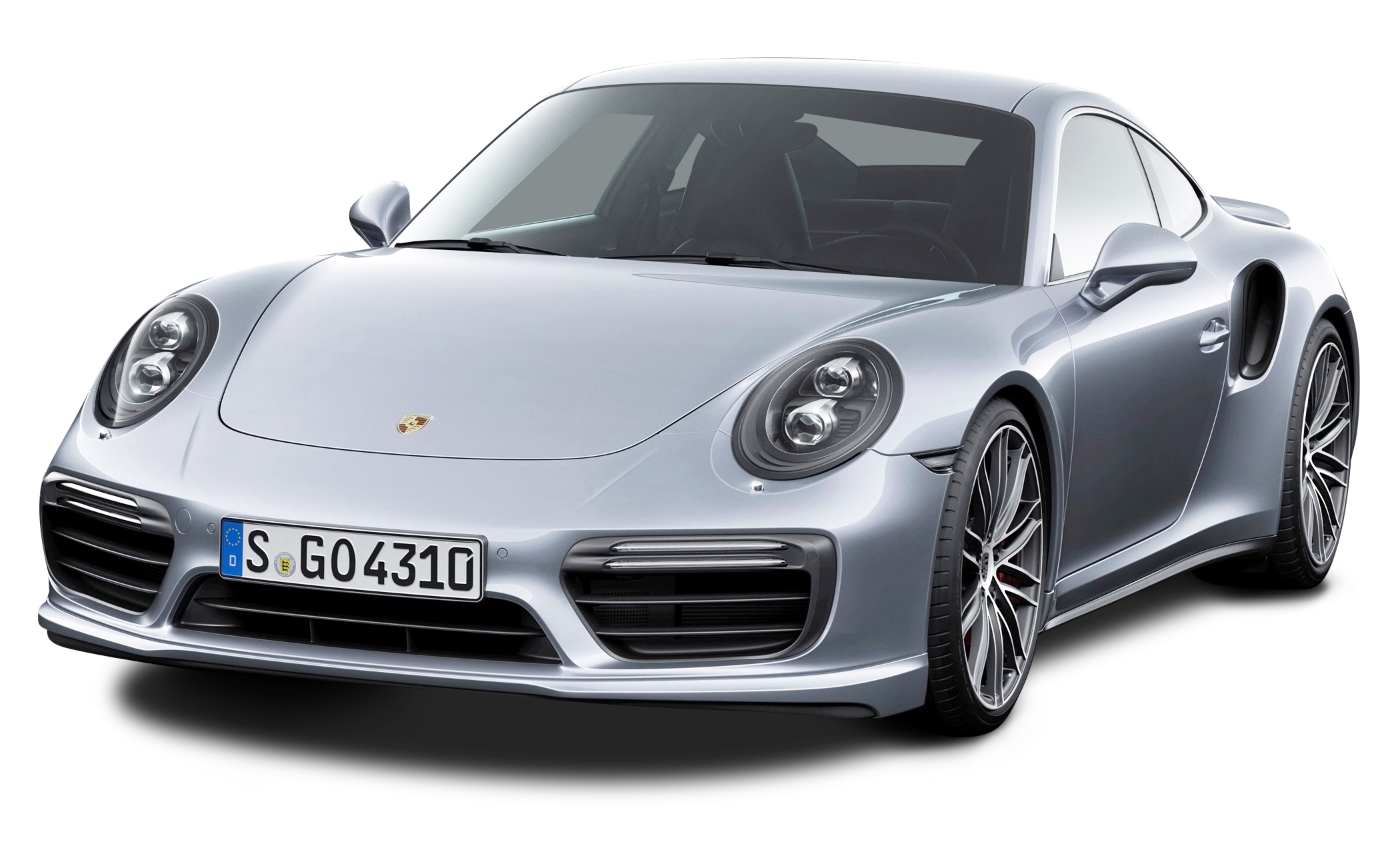 Car turbo clipart png transparent Porsche 911 Turbo Silver Car PNG Image - PurePNG | Free transparent ... png transparent
