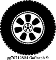 Car tyre clipart svg royalty free stock Tyre Clip Art - Royalty Free - GoGraph svg royalty free stock