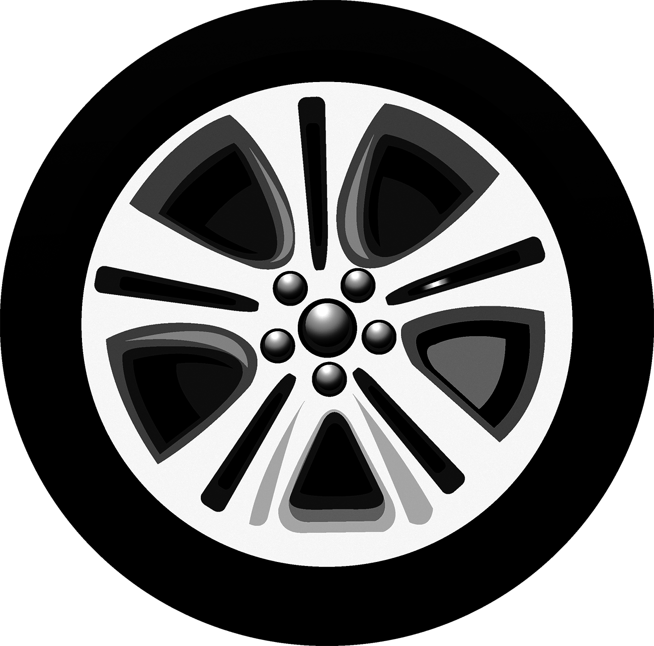Cartoon Technician Silhouette Illustration - Car tires png download ... png library library