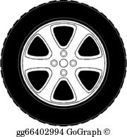 Car tyre clipart royalty free library Car Tire Clip Art - Royalty Free - GoGraph royalty free library