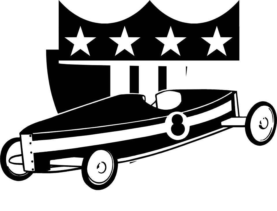 Vector car clipart graphic black and white library Soapbox | Free Stock Photo | Illustration of a soapbox car | # 8075 graphic black and white library