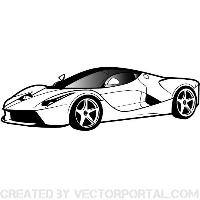 Car vector graphics clipart image free stock Luxury car vector clip art. | Vehicles Free Vectors | Car, Car ... image free stock
