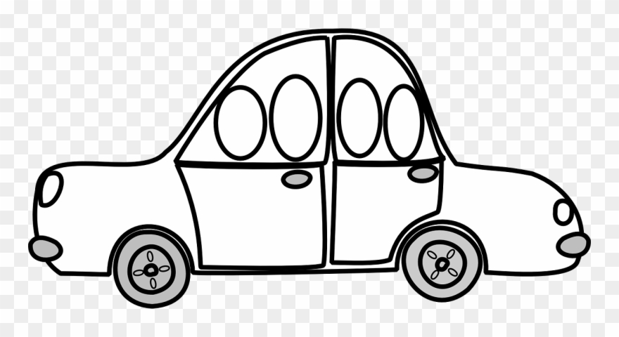 Free Vector Graphic - Car Cartoon Black And White Png Clipart ... svg transparent library