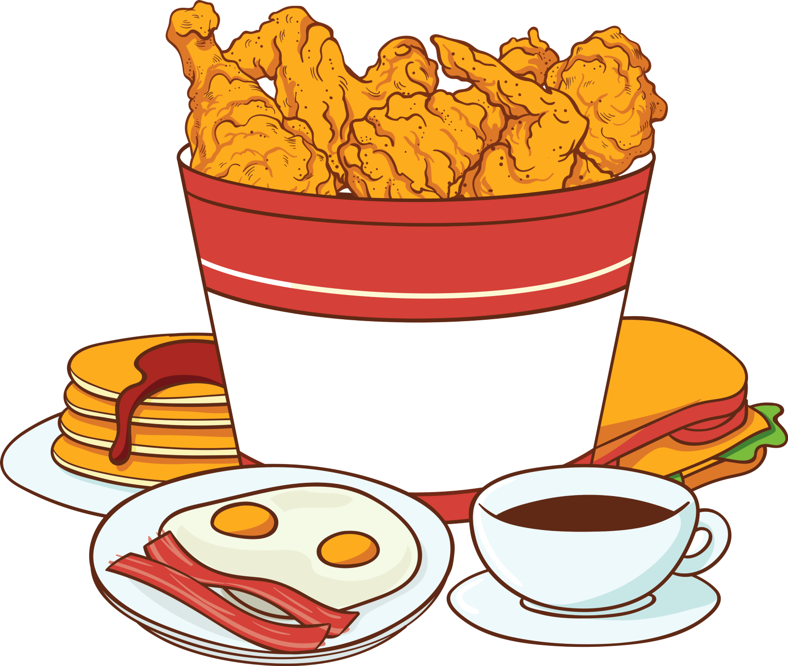 Car wash and fish fry clipart vector freeuse KFC B&B – Lit Up – Medium vector freeuse