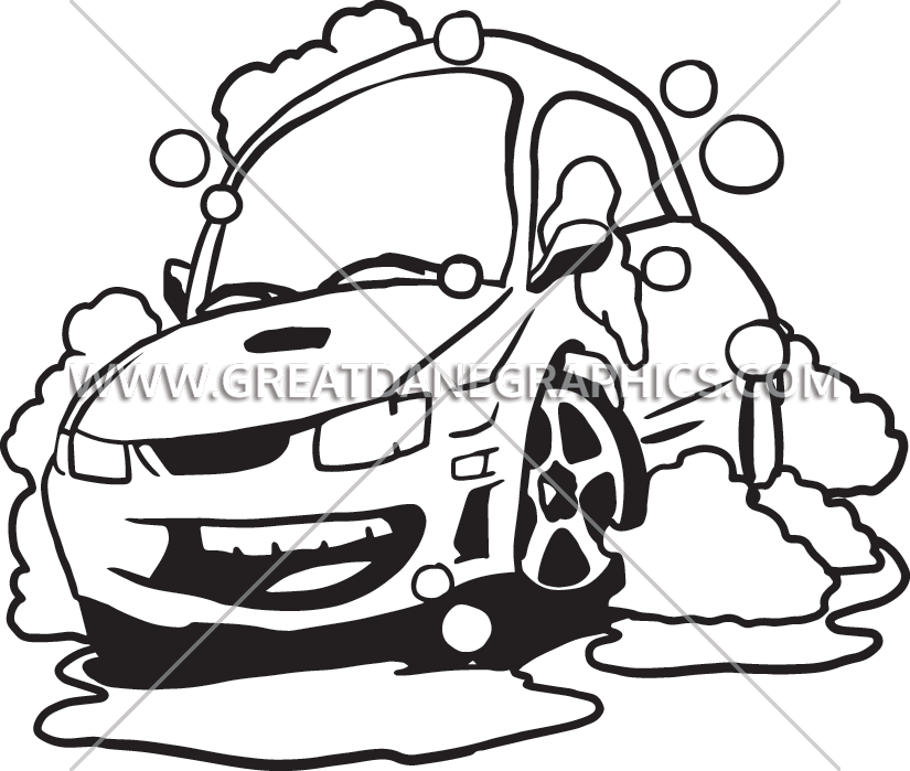 Car wash clipart black and white vector transparent Car Wash | Production Ready Artwork for T-Shirt Printing vector transparent