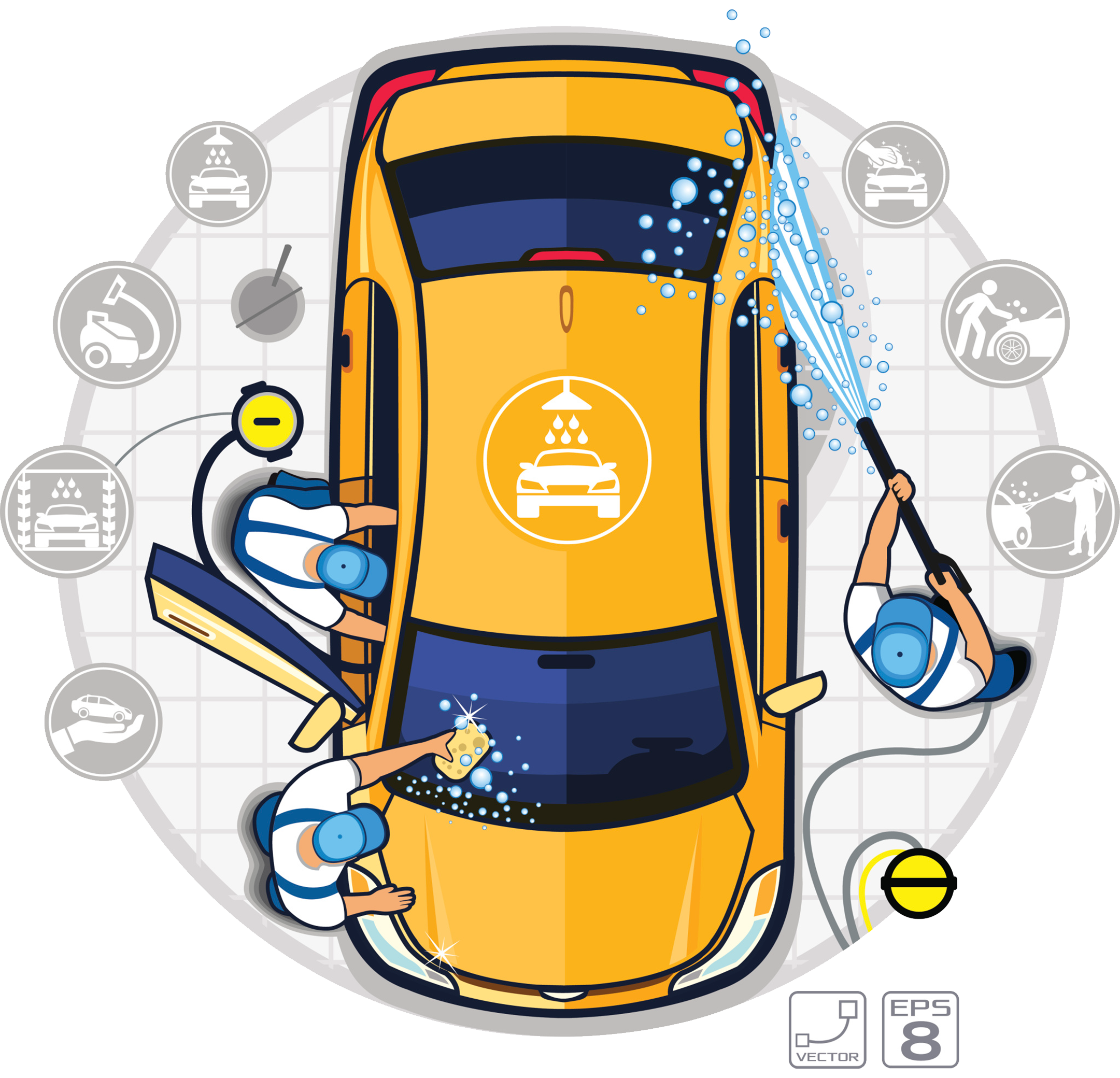 Washing a car clipart png transparent stock Car wash Auto detailing Illustration - Professional car wash shop ... png transparent stock