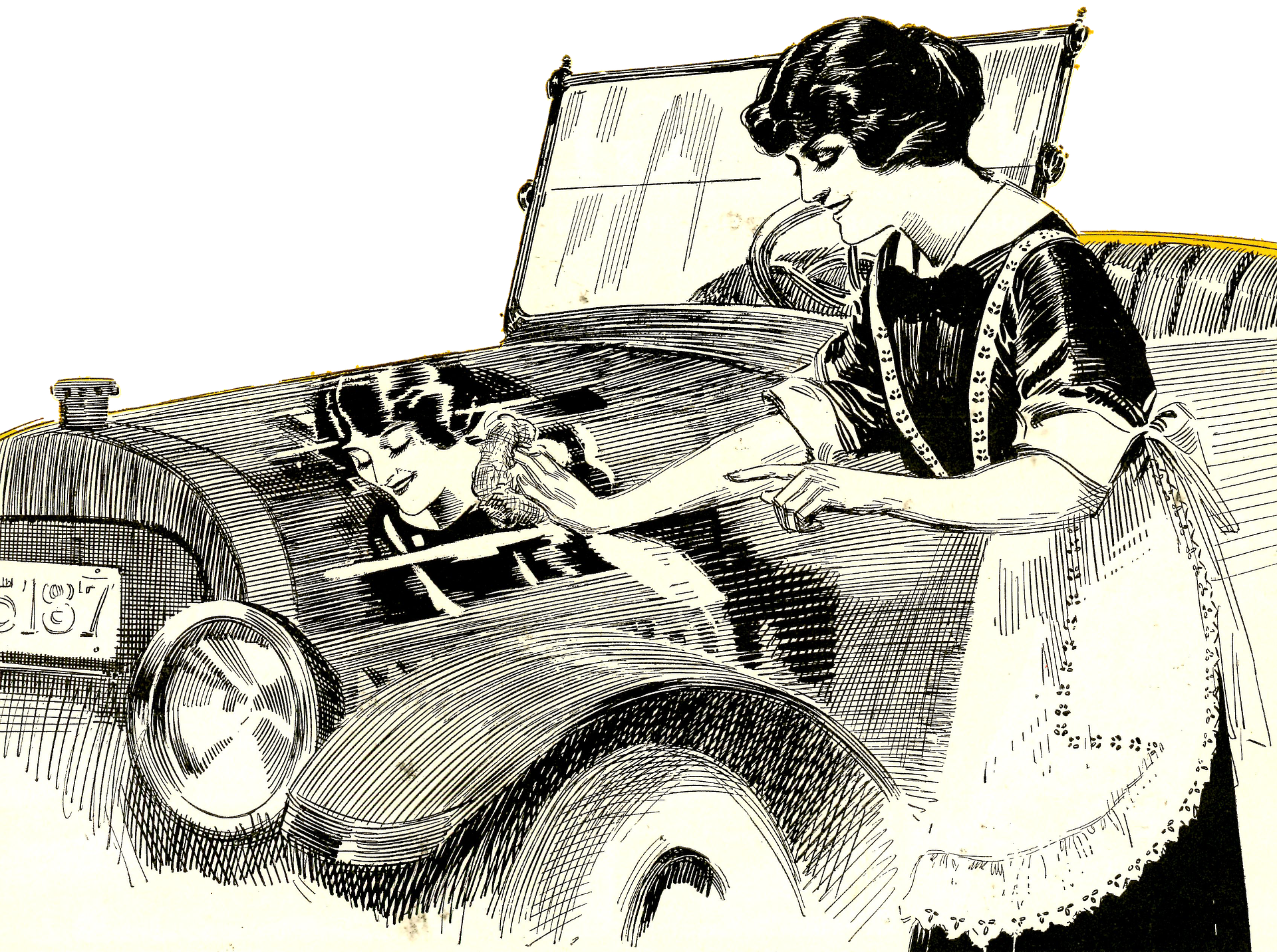 Car wash sponge clipart clip black and white library Cleaning Your Morgan Motor Car - London Morgan clip black and white library