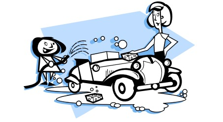 Car washing clipart picture black and white download Free car wash clip art - Clipartix picture black and white download