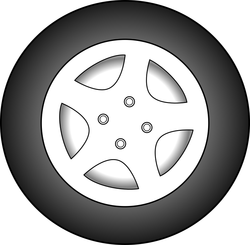 Car wheels clipart picture freeuse download Clipart - Wheel picture freeuse download