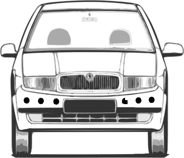 Car windshield clipart image transparent stock Car With Distance Sensors Clip Art at Clker.com - vector clip art ... image transparent stock