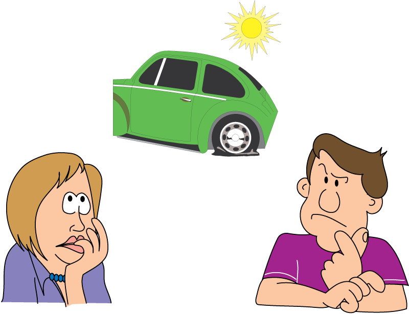 Car with a flat tire clipart graphic library download Excel Math: 04/01/2011 - 05/01/2011 graphic library download