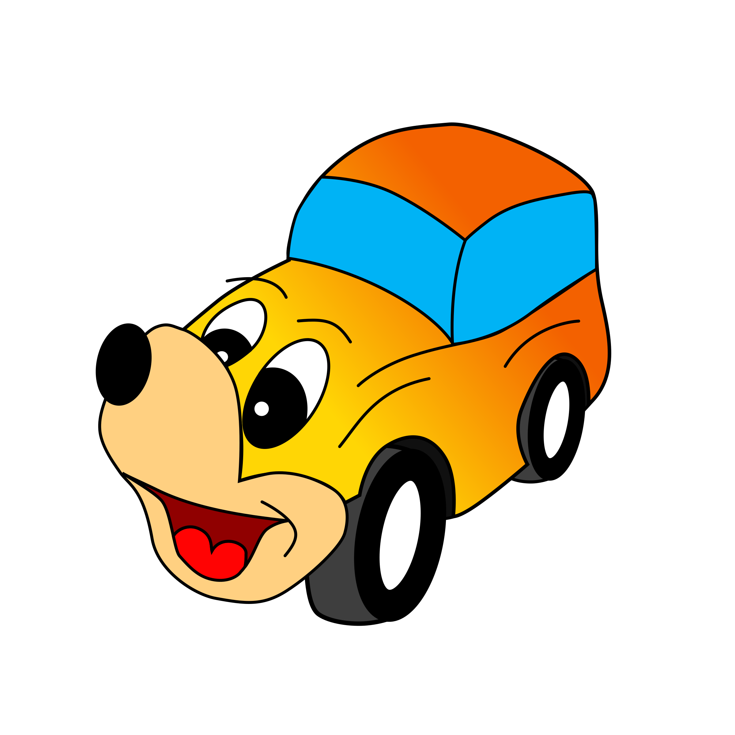 Car with bubbles clipart royalty free Comic yellow car Icons PNG - Free PNG and Icons Downloads royalty free