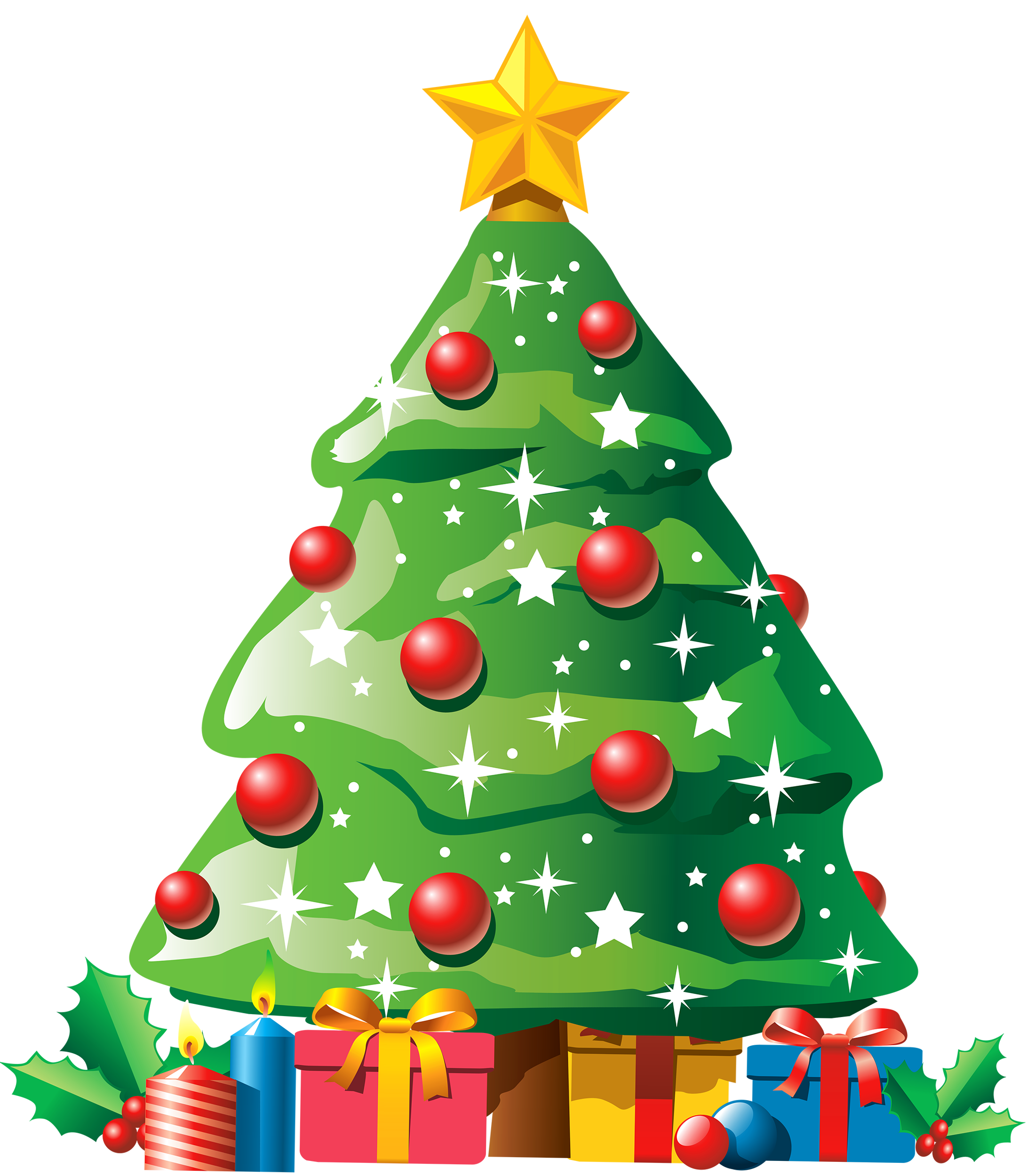 Christmas tree clipart png png library Christmas Tree with Gifts PNG Clipart - Best WEB Clipart png library