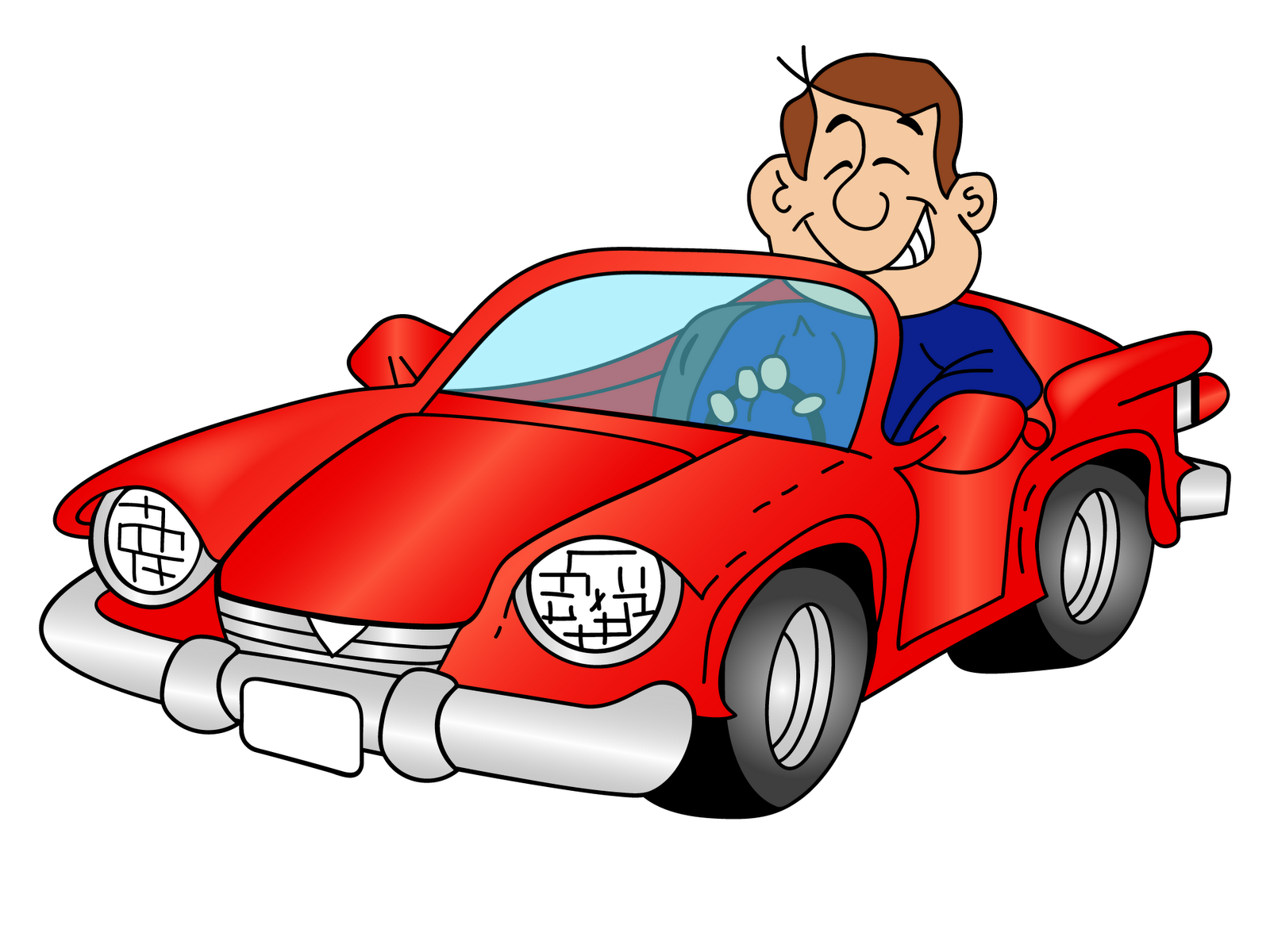 Man driving car clipart clip art freeuse library Cartoon car with a driver PNG Clipart - Download free images in PNG clip art freeuse library