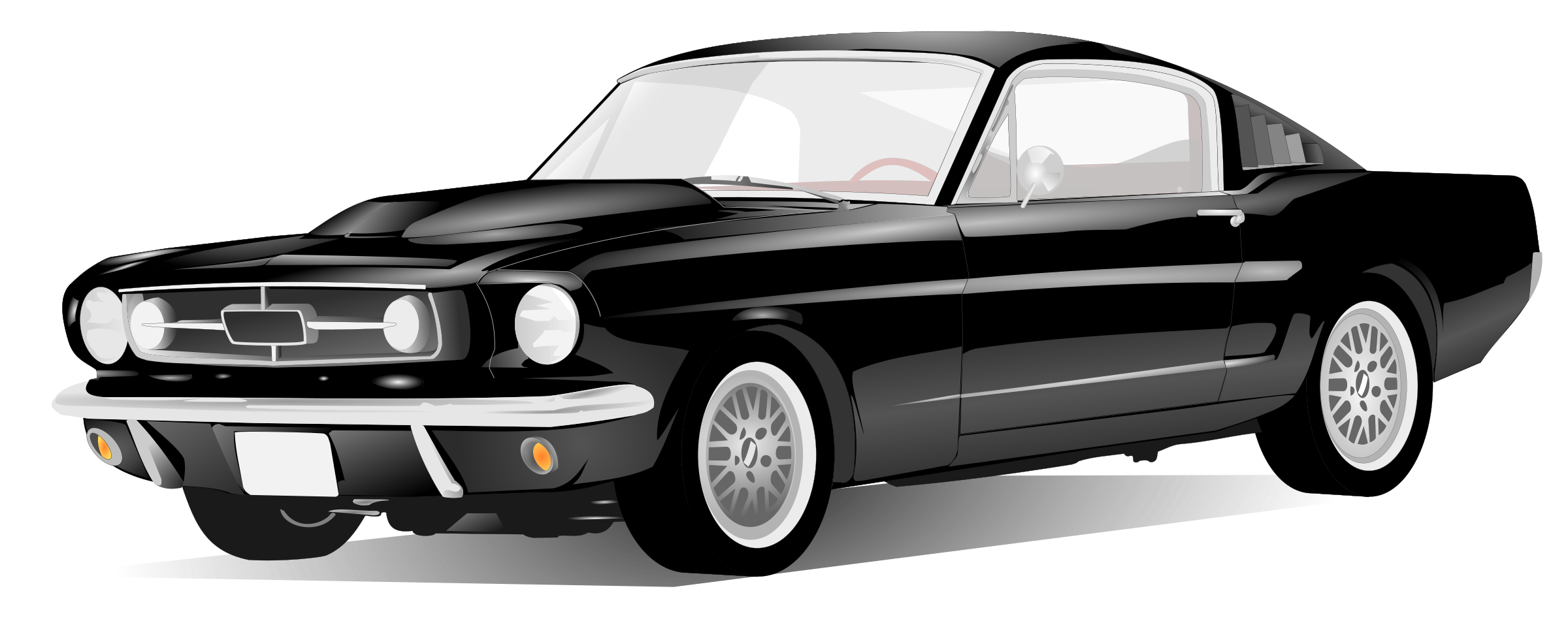 Car with hood open clipart image black and white Clipart - American Sport Car image black and white