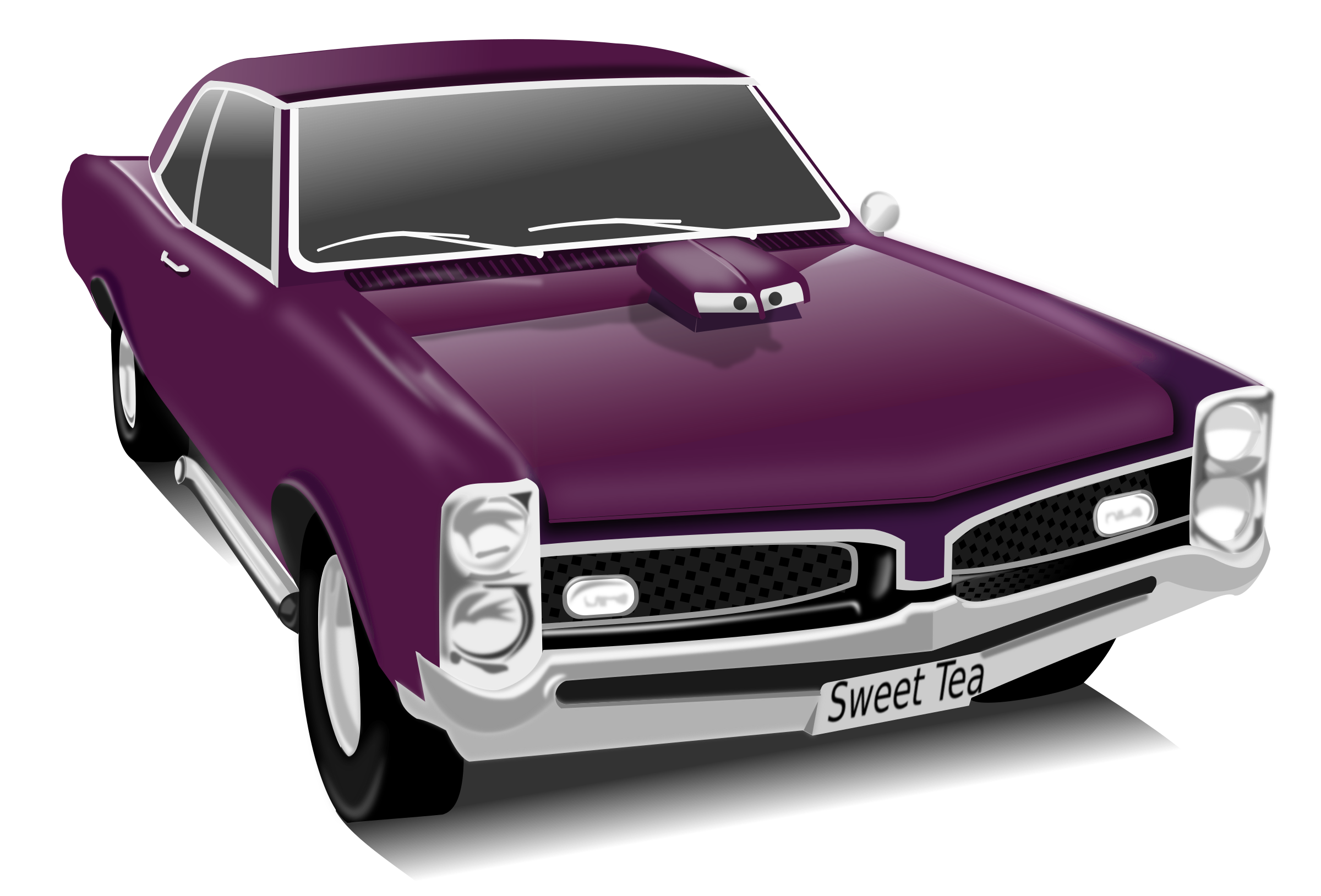 Car with hood open clipart graphic library library Clipart - My GTO graphic library library
