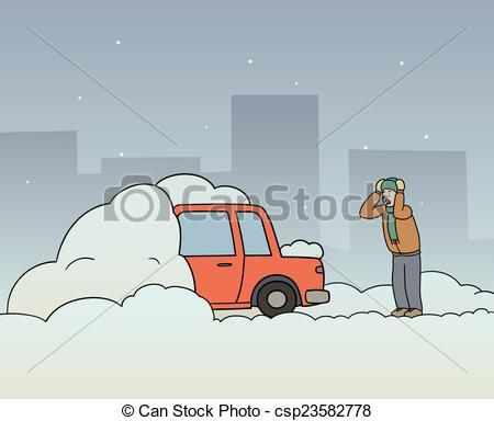 Car with snow car clipart clip art free download Stock Illustration of Stuck in snow - Someone digging their car ... clip art free download