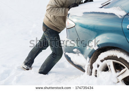 Car with snow car clipart svg royalty free Pushing Car Stock Photos, Royalty-Free Images & Vectors - Shutterstock svg royalty free