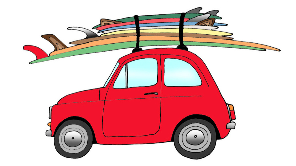 Car with surfboard clipart graphic royalty free download Cartoon Surfboard | Free Download Clip Art | Free Clip Art | on ... graphic royalty free download