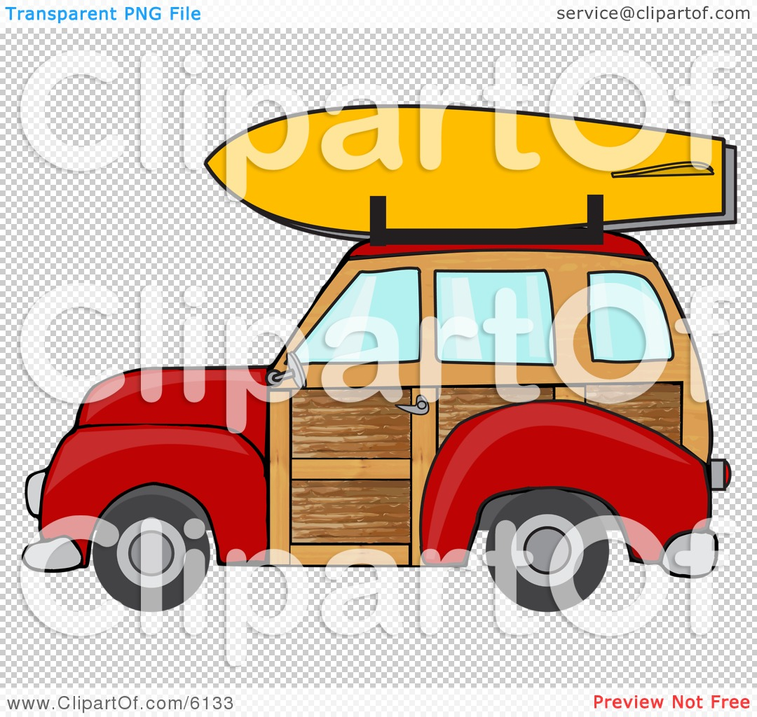 Car with surfboard clipart clipart royalty free library Woody And Surfboard Clipart - Clipart Kid clipart royalty free library