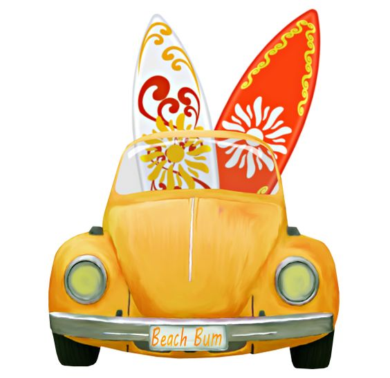 christine staniforth pap. Car with surfboard clipart