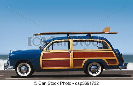 Car with surfboard clipart. Clipartfest stock photo of