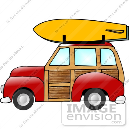 Car with surfboard clipart. Clipartfest by djart