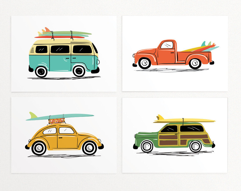 Car with surfboard clipart.  best ideas about