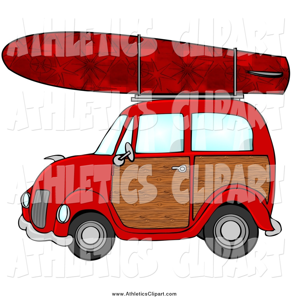 Car with surfboard clipart image transparent library Woody And Surfboard Clipart - Clipart Kid image transparent library