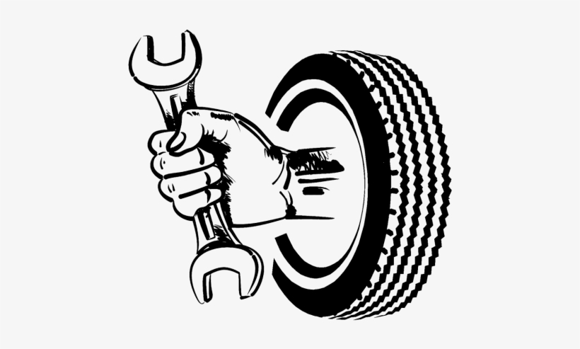 Car with tires clipart black and white clip art transparent library Svg Library Stock Tire Clipart - Car - Free Transparent PNG Download ... clip art transparent library