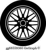Car with tires clipart black and white banner free stock Tires Clip Art - Royalty Free - GoGraph banner free stock