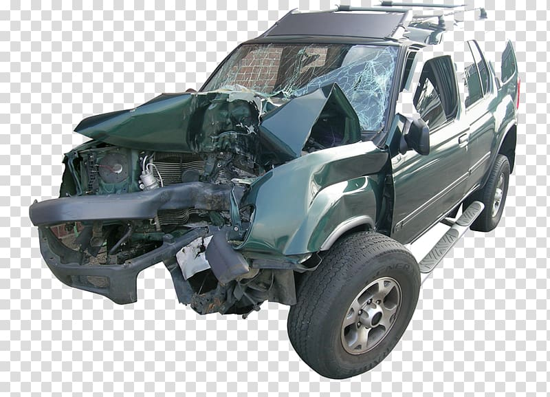 Car wreck green clipart clipart transparent library Wrecked green Nissan Xterra SUV, Car Traffic collision, Car crash ... clipart transparent library