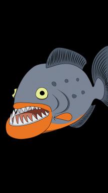 Cara de piranha clipart graphic royalty free How to Draw Piranha Step-by-Step step 10   Piranha Birthday ... graphic royalty free